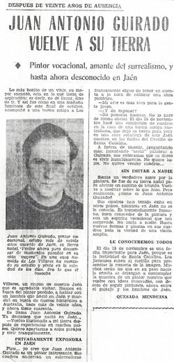 25/11/1972 Guirado returns to Jaén