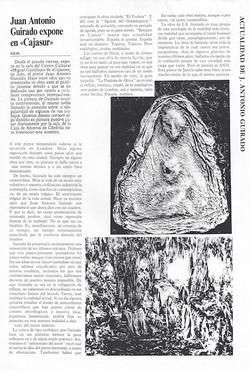 Juan Antonio Guirado expone en Cajasur, Ideal, Exhibitionat Cajasur's Miguel Castillejo Cultural Cen