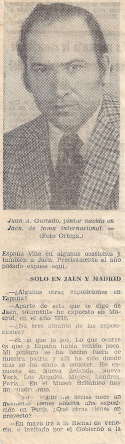 Nov 1976 Solo exhibitions