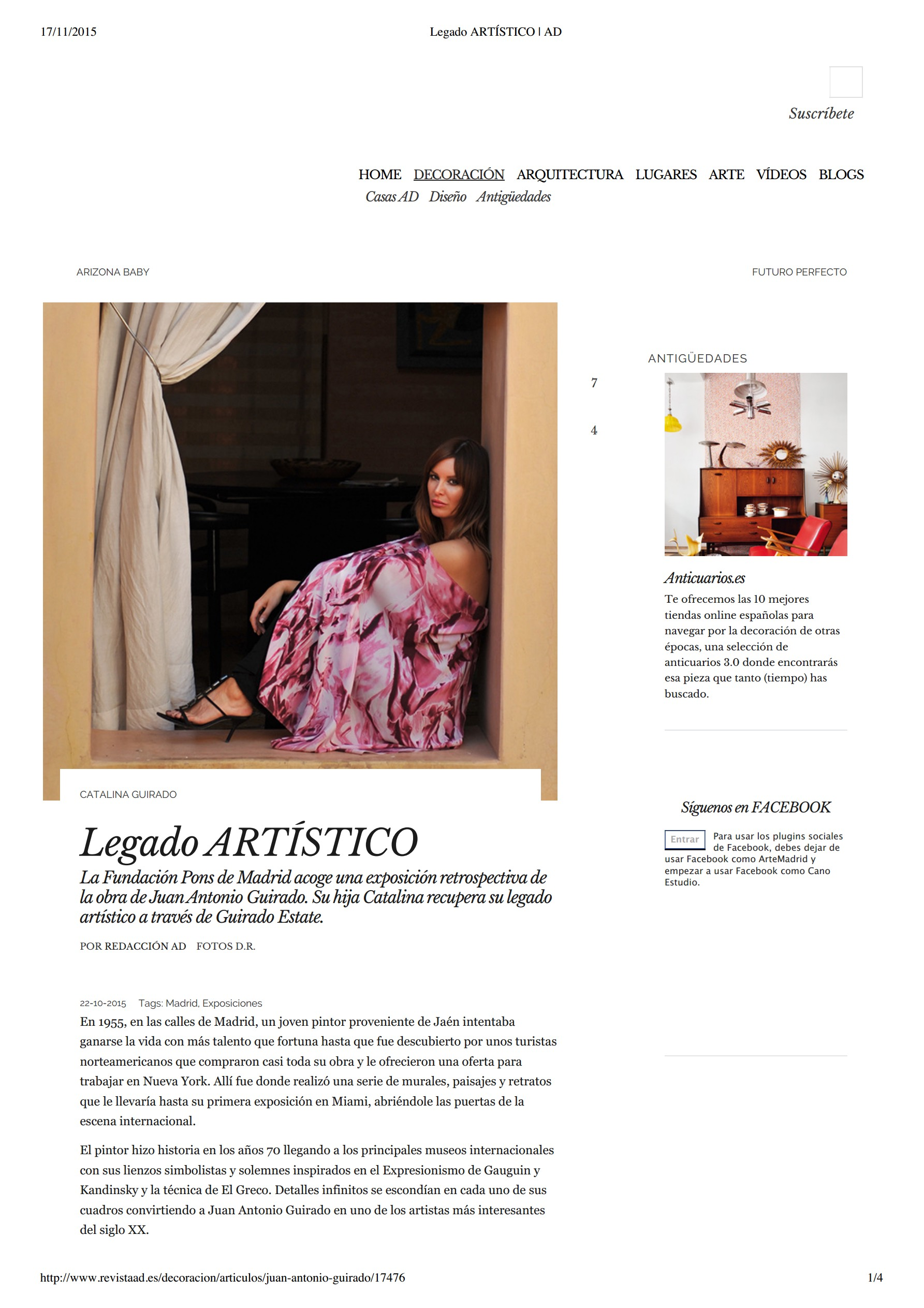 Legado Artistico, Architectural Digest, by Redaccion AD, 22 October, 2015_300%_0