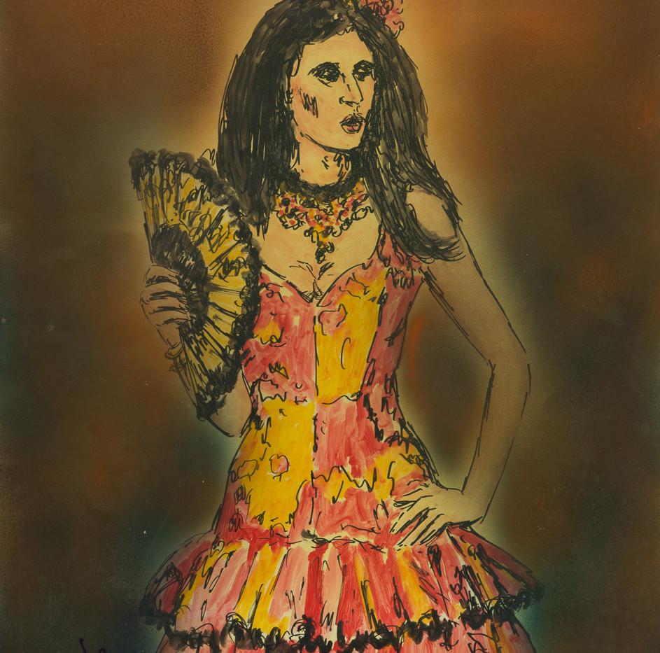 Retrato en la cercanía- Carmen de Bizet, circa. 1985