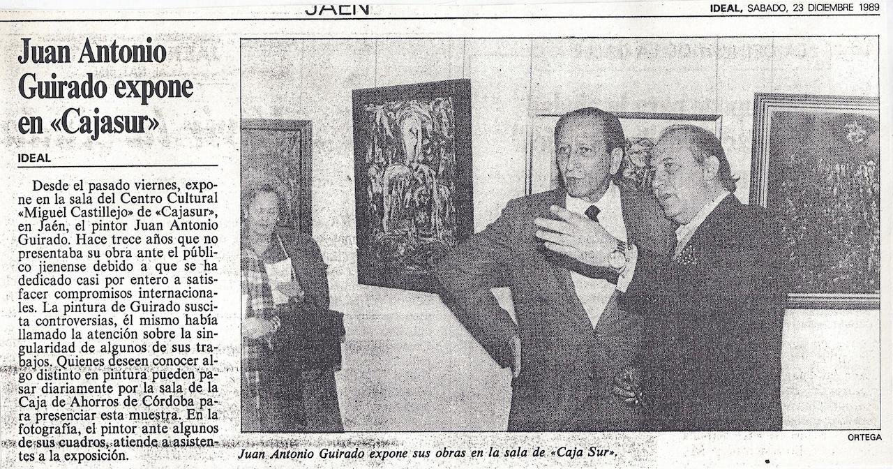 Juan Antonio Guirado expone en Cajasur, Ideal, Exhibition at Cajasur's Miguel Castillejo Cultura