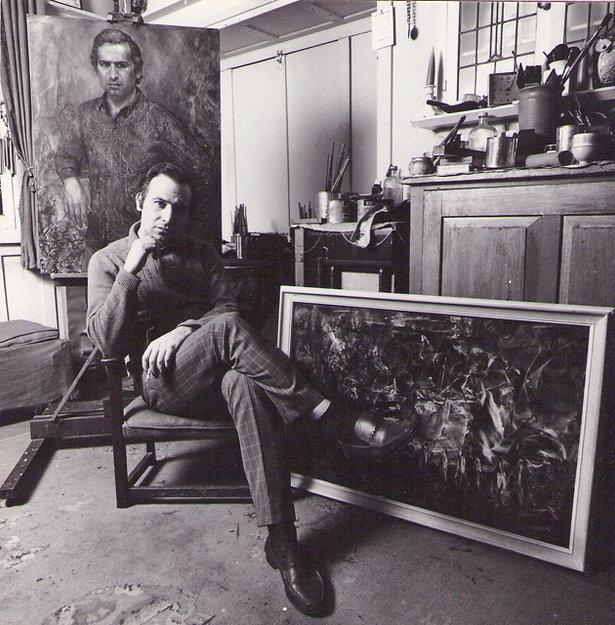 Juan Antonio Guirado in his studio in Sydney 1967