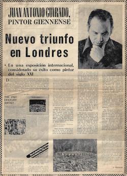 Juan Antonio Guirado, Pintor giennense, Nuevo triunfo en Londres, Exhibition at the Sloane Stree