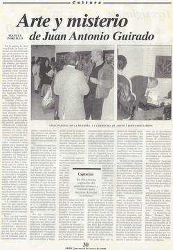 Arte y misterio de Juan Antonio Guirado, Exhibition in Galeria Vera-Estilo, by Manuel Portill