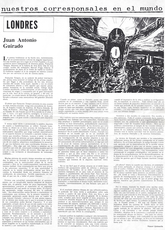 El Mundo , Art Gazette 1976