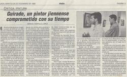 Guirado, un pintor jienense comprometido con su tiempo, Cajasur exhibition, by Manuel Portillo Lopez