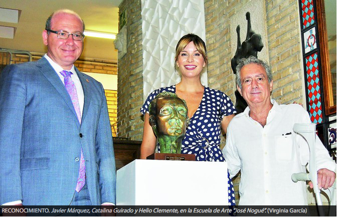 Presentation of Bronze bust by the Mayor of Jaén 2018