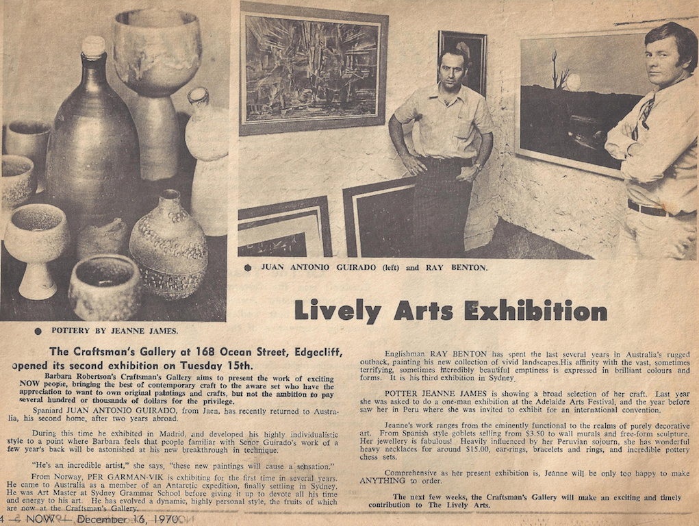 Lively Arts Exhibition, Now, Exhibition at The Craftman's Gallery, 16 Dec. 1970
