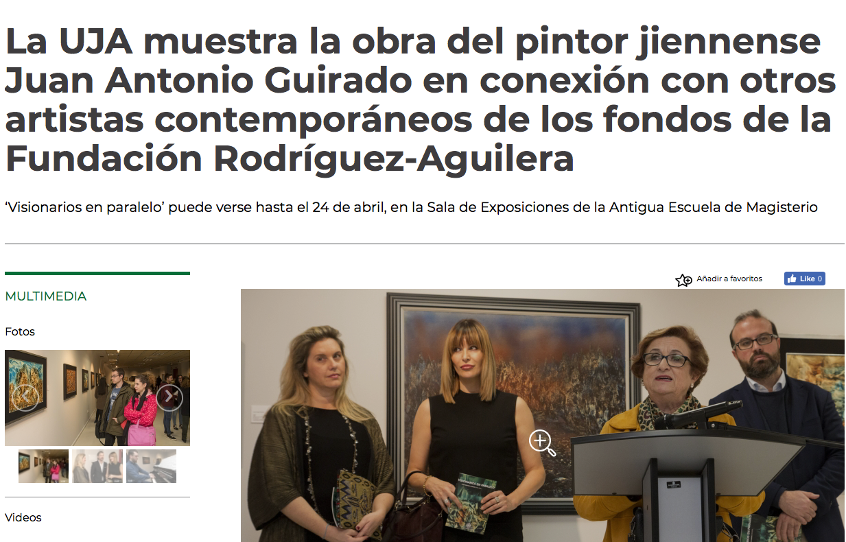 Press of the presentation of the painting to the Foundation
