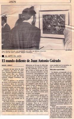 El mundo doliente de Juan Antonio Guirado, Exhibition at Cajasur's Miguel Castillejo Cultural Centre