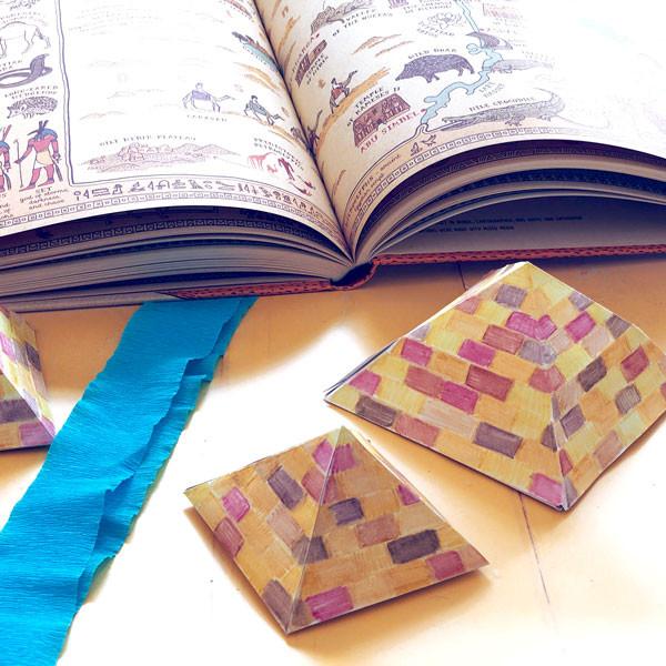 Egypt: Make 4 Pyramids Using Nets