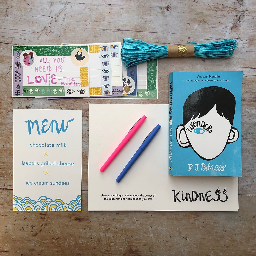 Wonder Celebration Menu and Kindness Pacemats