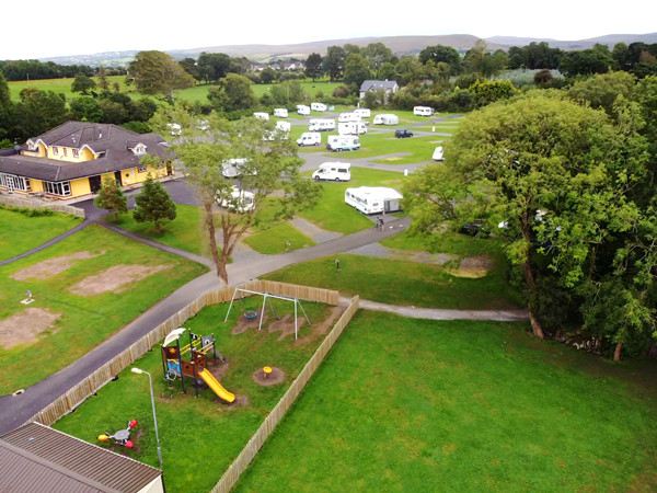 Our campground at Tralee on the Emerald Isle