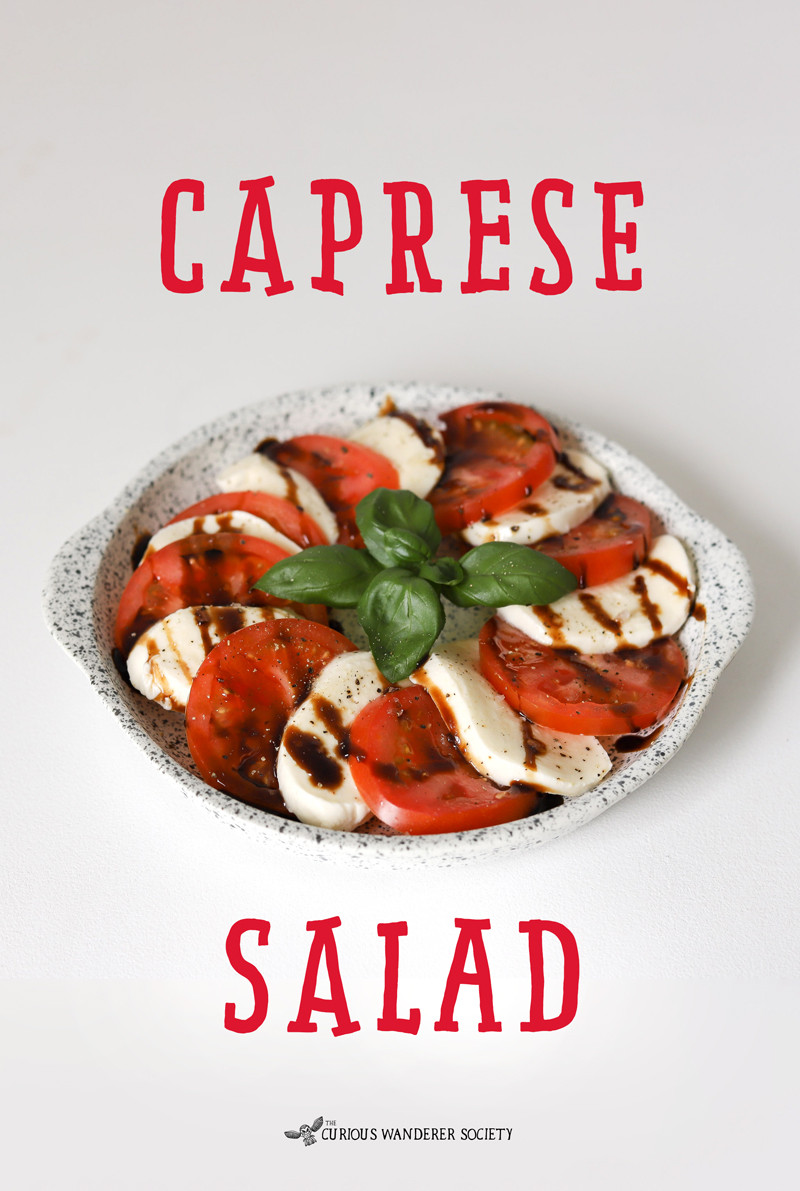 Caprese Salad - a delicious and simple Italian recipe for kids kids to make