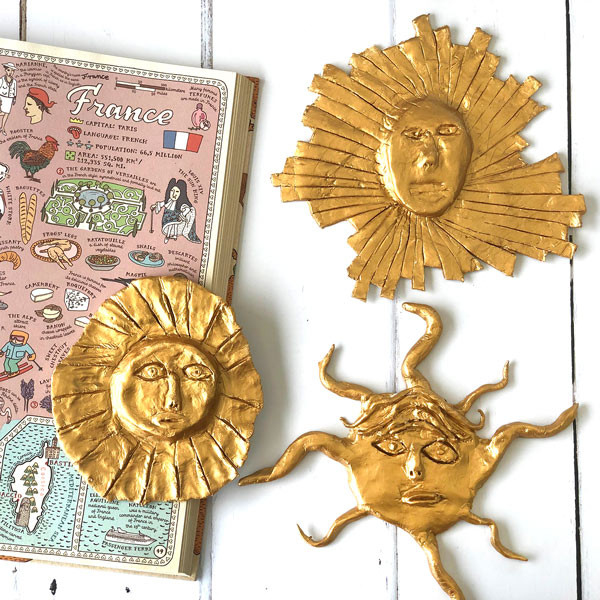 France: Make a Versaille-inspired clay sun