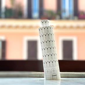 Italy: Make a model of the Leaning Tower of Pisa