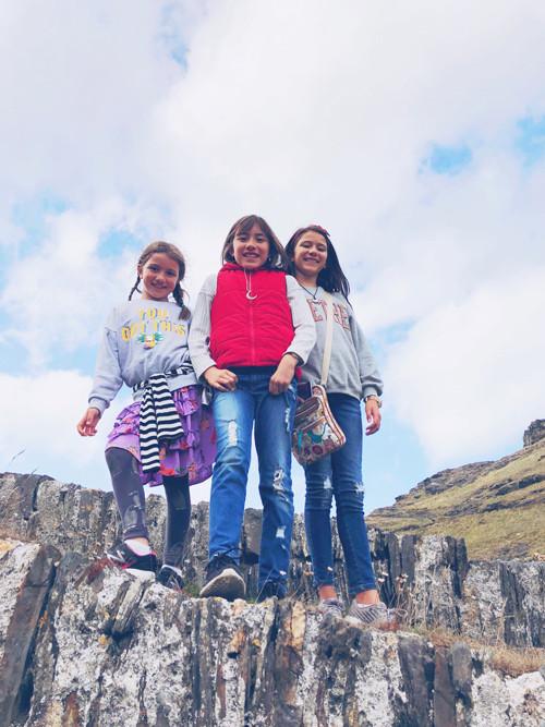 The girls exploring Cornwall, England