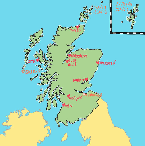 Our 'Top Spots' Map of Scotland