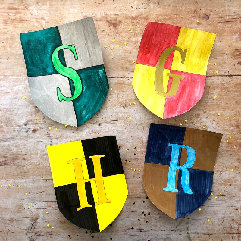Celebrate reading Harry Potter and the Philosopher's Stone and make your own house banners for the celebration!