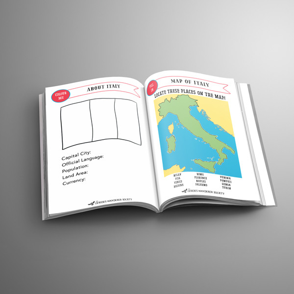 Italy Passport A5Inserts FreeVersion