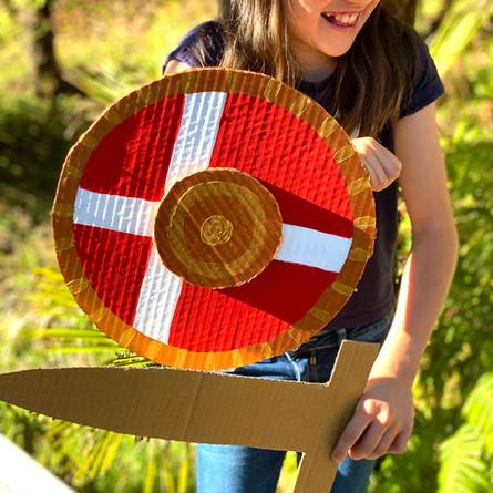 Make a viking shield activity