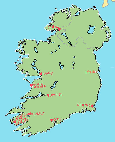 fun map of the Republic of Ireland