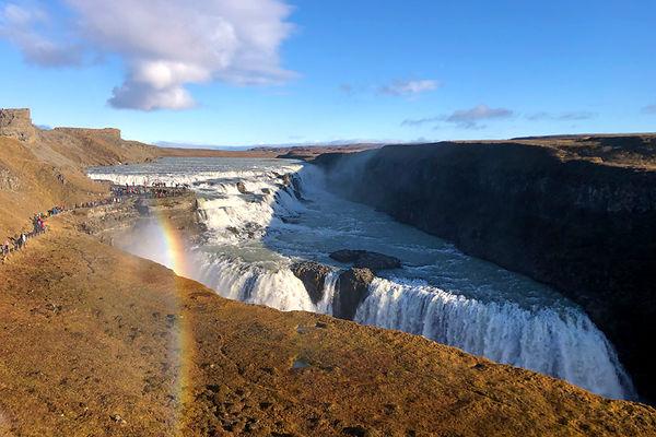 Gulfoss Falls in Iceland