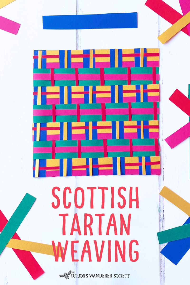 Scottish tartan weaving activity