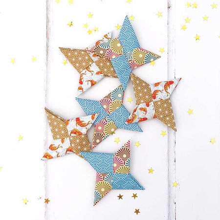 Origami Stars activity from the Japan Explore the World from Home Guide