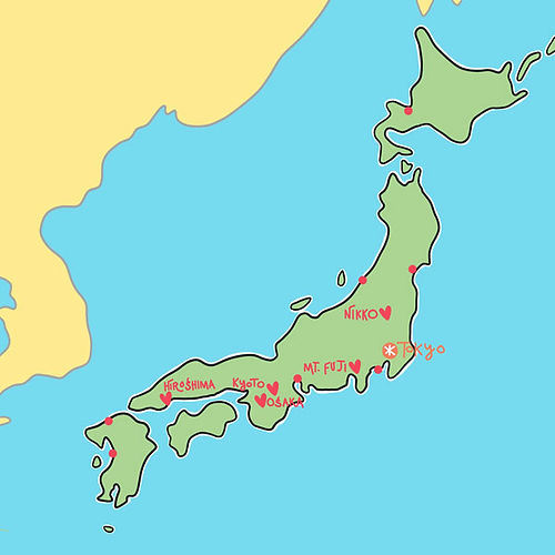 Our Top Spots Map of Japan