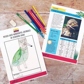 Ecuador: Weird + Wonderful Animals Game