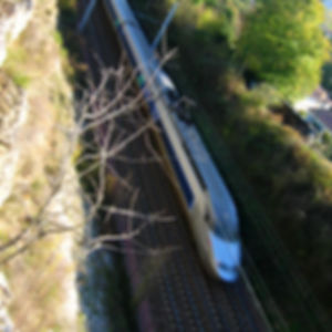 A TGV train running at top speed