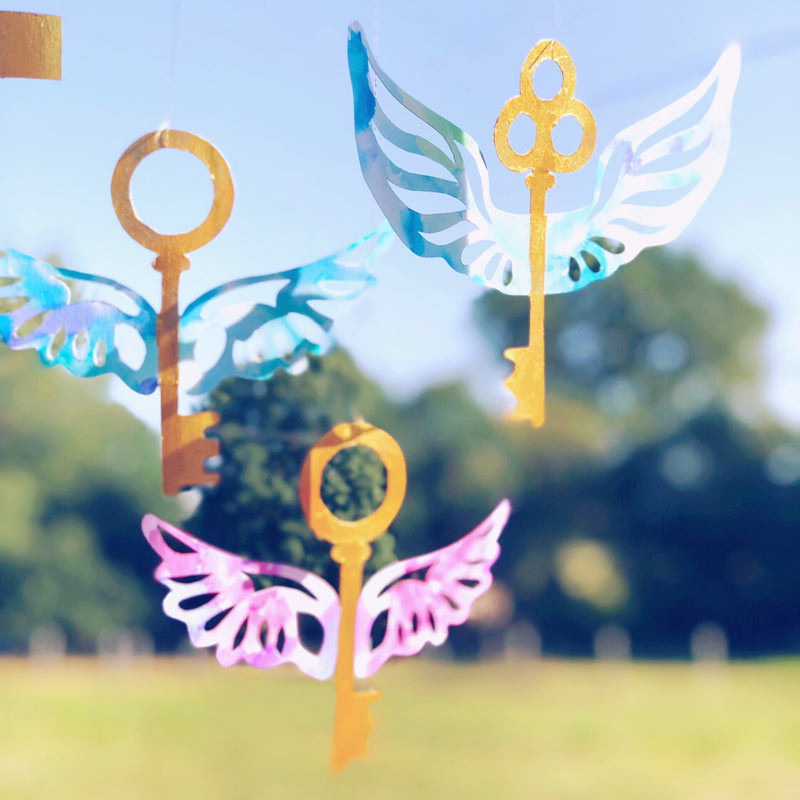 make an enchanted key mobile inspired by Harry Potter and the Philosopher's Stone by J. K. Rowling