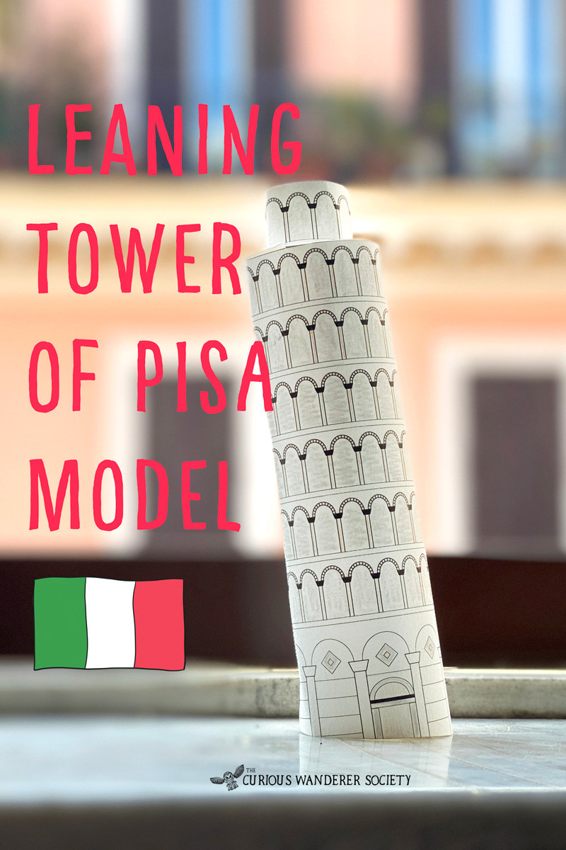 Make a model of the leaning tower of Pisa!