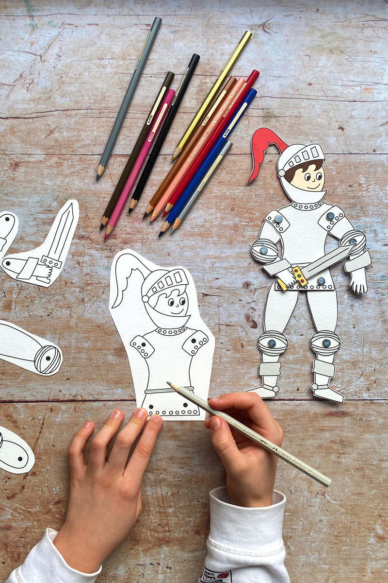 Download the articulated knight template