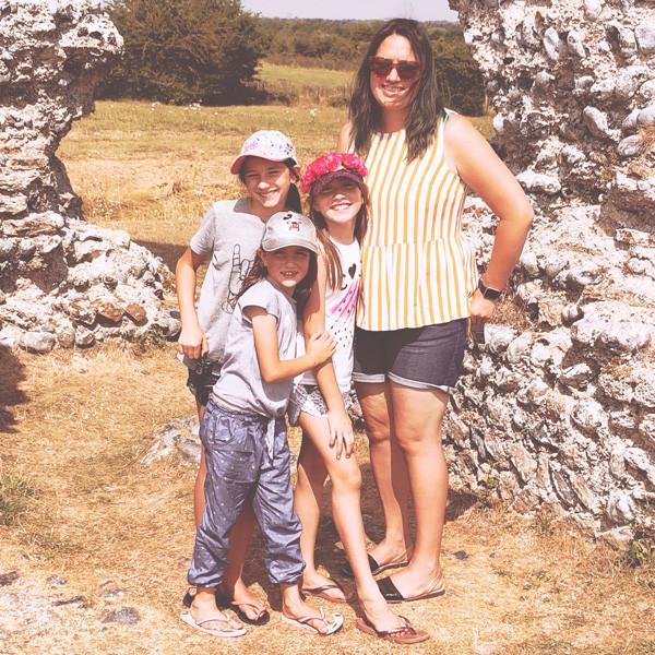 Richborough Roman ruins, Kent, England