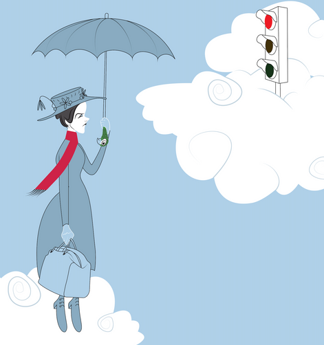 mary poppins stuck at the lights