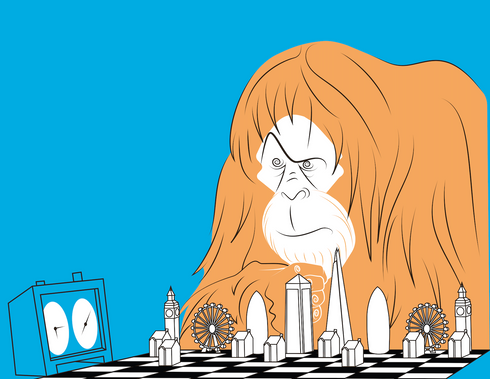 ape plays chess