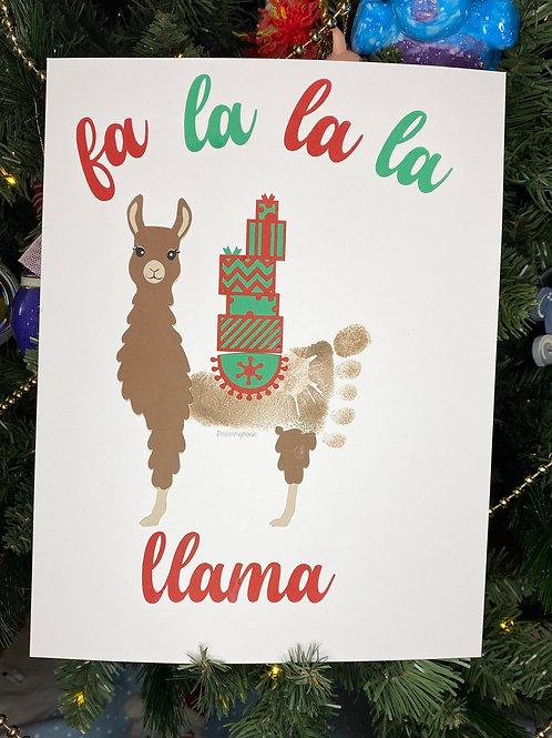 DIY Christmas Llama Art & Virtual Class