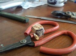 Печатка филигранная скорпион