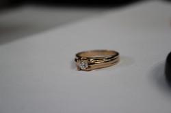 Кольцо с бриллиантом 3 мм