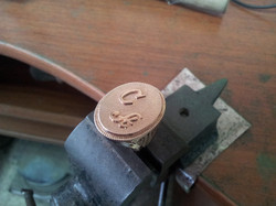 Печатка с инициалами