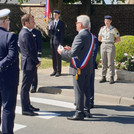 Le president Macron, l 'amiral Rogel, M.