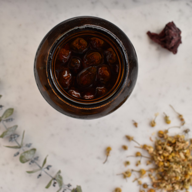 Rosehip infusion oil brewing it's magic!
