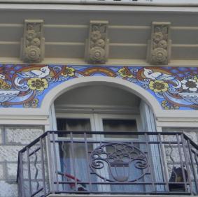 Nice - Les façades peintes de Cimiez