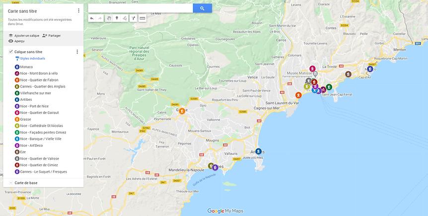 Côte d'azur map