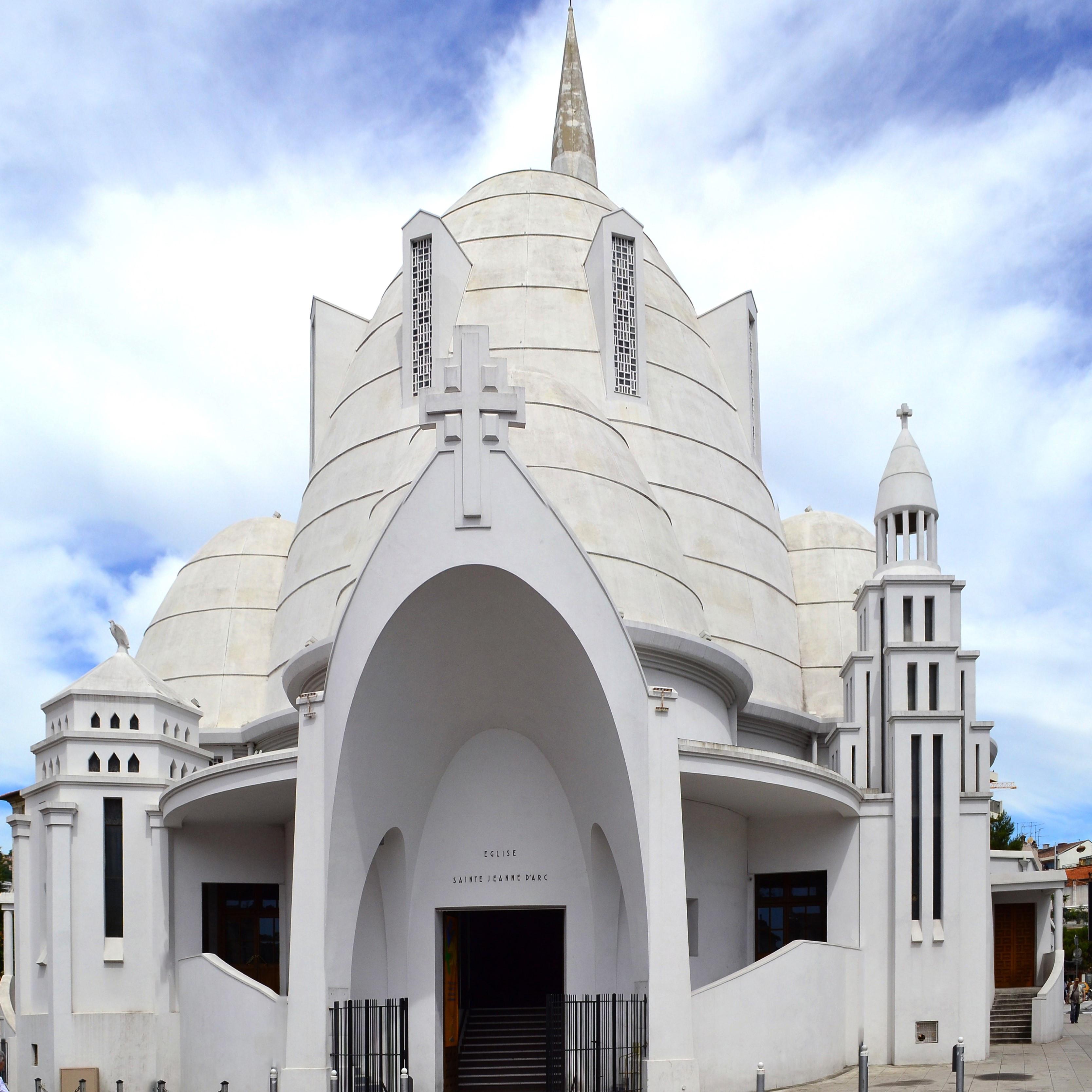 Nice - Valrose et église Jeanne d'Arc