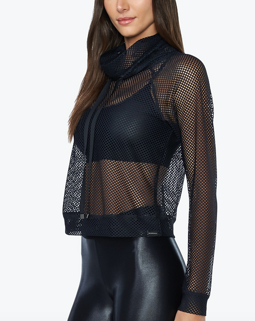 Koral: Pump Open Mesh Pullover in Black
