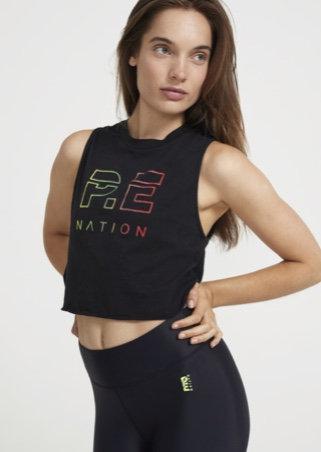 P.E Nation: Shuffle Tank Cropped